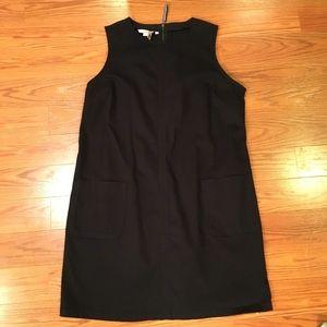 NWT Boden 16 Black Cotton Sleeveless Dress